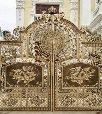 Cửa cổng nhôm đúc tại Vũng tàu giá giảm 4 triệu /m